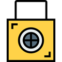 Lock, privacy, padlock, Block, Tools And Utensils, security SandyBrown icon