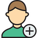 Multimedia, Add, profile, user, stick man, people, Social, Avatar Black icon