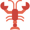 lobster, Animals, Sea Life, Animal, food IndianRed icon
