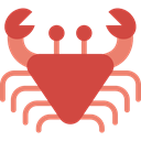 Aquarium, Sea Life, Animals, Summertime, Crab, Crabs, summer, Beach, food IndianRed icon