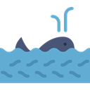 whale, Aquarium, Animal, Animals, Aquatic, Sea Life CornflowerBlue icon
