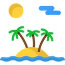 landscape, Beach, nature, Holidays, sun, Island Black icon