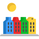urban, town, Cityscape, travel, Building, city, Amsterdam, buildings Icon