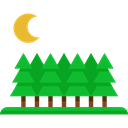 nature, trees, Forest, garden, Botanical, Pine, yard Black icon