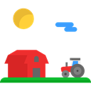 Farming And Gardening, gardening, Farm, real estate, Barn, buildings Black icon