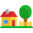 buildings, garden, real estate, Home, house, Page Black icon