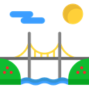 buildings, Construction, bridge, river, Architecture And City, engineering, Architectonic Black icon