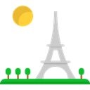 paris, Eiffel tower, romantic, shapes, travel, france Black icon