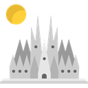 Monument, Catholic, travel, landmark, Architectonic, Monuments, church, Building, Barcelona, spain, Holy Family LightGray icon