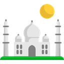 taj mahal, India, Building, Asia, Agra, Architectonic, travel, Monuments Black icon