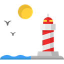 Lighthouse, Guide, Architecture And City, buildings, tower, Orientation Black icon