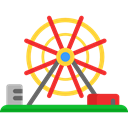 buildings, Ferris Wheel, Funfair, Big Wheel, Amusement Park, Architecture And City, fair, Business Black icon