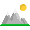 mountains, nature, Snow, landscape, Altitude Black icon