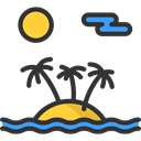 Holidays, Island, sun, Beach, landscape, nature Black icon