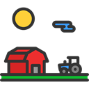 Farming And Gardening, Barn, gardening, real estate, buildings, Farm Icon