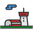 storage, buildings, Hangar, warehouse, industry Black icon