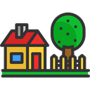 house, garden, Page, Home, buildings, real estate DarkSlateGray icon