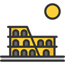 Monuments, Architectonic, Colosseum, italy, landmark, Architecture And City, rome DarkSlateGray icon
