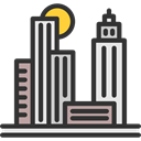 Cityscape, city, urban, Skyscrapers, Architecture And City, Architecture, town, buildings DarkSlateGray icon
