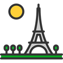 travel, shapes, france, romantic, paris, Eiffel tower Icon