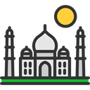 Monuments, Asia, Agra, travel, Architectonic, Building, India, taj mahal DarkSlateGray icon