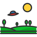 Science Fiction, Alien, transport, transportation, spaceship, extraterrestrial, Ufo Black icon