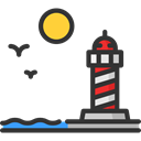 Guide, buildings, Lighthouse, Orientation, Architecture And City, tower Black icon
