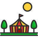 Circus, leisure, Entertaining, entertainment, Tent DarkSlateGray icon
