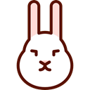 Bunny, Animal Kingdom, Animals, mammal, rabbit, zoo, Wild Life Black icon