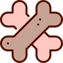 Bone, pet, Animals, Biscuit, food, Animal, Bones, Crossed, Biscuits Tan icon