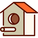 structure, pet, birds, miscellaneous, Birdhouse, Animals Silver icon