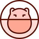Hamsters, Ball, hamster, pet, Animal, exercise, Animals Maroon icon