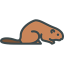zoo, Animals, Wild Life, Animal Kingdom, Beaver Black icon