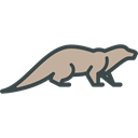 Wild Life, zoo, Animal Kingdom, Animals, Otter Black icon