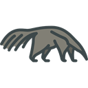 Wild Life, Animal Kingdom, Anteater, zoo, Animals Black icon
