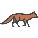 Animals, Wild Life, Animal Kingdom, zoo, Fox Black icon