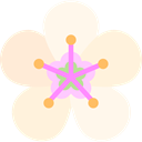 Almond, nature, Flower, Botanical, blossom, petals Cornsilk icon