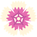 Botanical, nature, blossom, Dianthus, Flower, petals Cornsilk icon