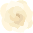 Botanical, Gardenia, Flower, blossom, nature, petals Cornsilk icon