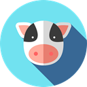 Farming And Gardening, cow, zoo, Farming, Animal Kingdom, Wild Life, Animals SkyBlue icon