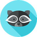 zoo, Wild Life, Animals, racoon, Animal Kingdom SkyBlue icon