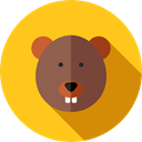 Animals, Animal Kingdom, Beaver, zoo, Wild Life Gold icon
