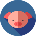 pig, Animals, Wild Life, Animal Kingdom, zoo, Farming And Gardening SteelBlue icon