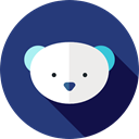 Animal Kingdom, zoo, polar bear, Wild Life, Animals MidnightBlue icon