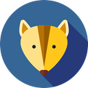 Animal Kingdom, zoo, Wild Life, Fox, Animals SteelBlue icon