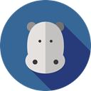 Wild Life, hippopotamus, zoo, Animal Kingdom, Animals Icon