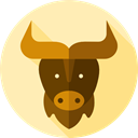 Animal Kingdom, Wild Life, zoo, buffalo, Animals Moccasin icon