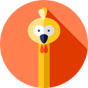 Wild Life, Animals, Animal Kingdom, ostrich, zoo Coral icon