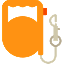 Walking The Dog, leash, Animals, pet DarkOrange icon