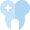 medical, tooth, Dentist, molar, Healthcare And Medical LightBlue icon